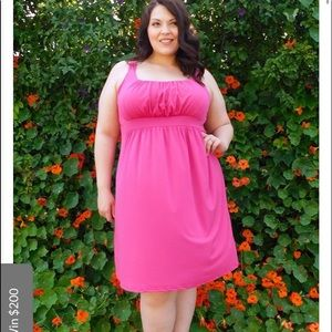 Pink knee length dress size 4X Plus Size